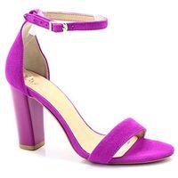2704 fuksja - sandały na słupku - różowy ||fioletowy, Tymoteo