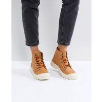 pampa hi leather tan flat ankle boots - tan, Palladium