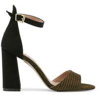 Czarne sandałki na słupku PARIS HILTON - 92-03, 92_NERO-ORO-41