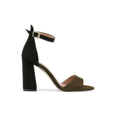 Paris hilton Czarne sandałki na słupku - 92-03
