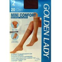 Podkolanówki |Golden Lady| Mini Confort 20 den A`2 1/2-S/M, beżowy/daino, Golden Lady