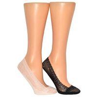Baletki lace footsies koronkowe art.11852 rozmiar: 35-38, kolor: czarny/nero, knittex, Knittex