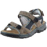 Sandały 68872 - brązowe marki Rieker