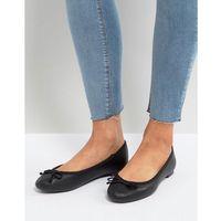 leather look ballet pump - black marki New look