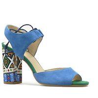 Sandały Kordel 1671 Chabrowe zamsz, kolor niebieski