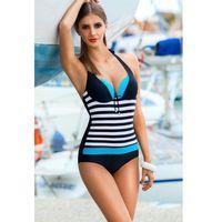 Kostium jednoczęściowy model pamela i black/blue marki Ewlon
