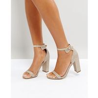 Office Hip Heeled Sandals - Gold