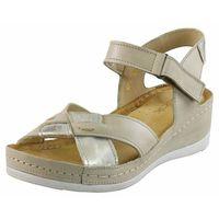 Wasak Sandały 0473 - beżowo-złote