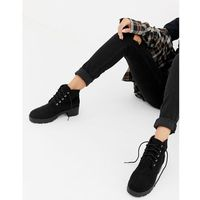 Truffle Collection Chunky Lace Up Ankle boots - Black, ankle
