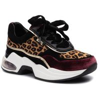 Sneakersy - kl61726 wine mix textile, Karl lagerfeld, 37-40