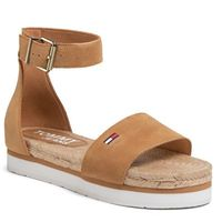 Espadryle TOMMY JEANS - Natural Rope Sandal EN0EN00914 Dusty Bronze GQE