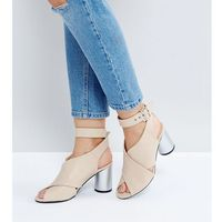 silver heeled sandals - beige, The march