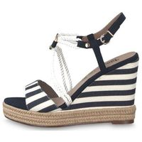 Tamaris sandały damskie 39 ciemnoniebieski, kolor niebieski
