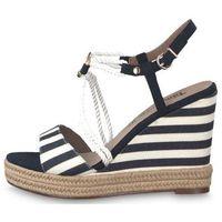 Tamaris sandały damskie 41 ciemnoniebieski, kolor niebieski