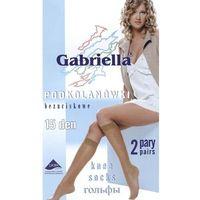 Podkolanówki Gabriella bezuciskowe 15 den A'2 uniwersalny, beżowy/amber, Gabriella, kolor beżowy