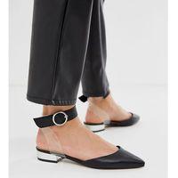 pointed flat ballet shoes - black marki Blink