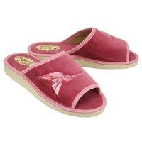 037 sandra różowy, kapcie damskie - różowy, Meteor