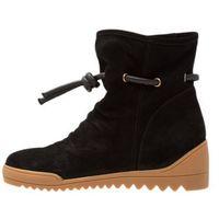 Shoe The Bear LINE Botki na koturnie black, kolor czarny