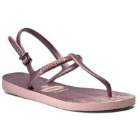 Sandały HAVAIANAS - Freedom Sl Prin Cf 41371096615 Pearl Pink, kolor fioletowy