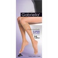 Gabriella podkolanówki 504 super bezuciskowe 15 den caramel, GABPD504#CAR#UNI