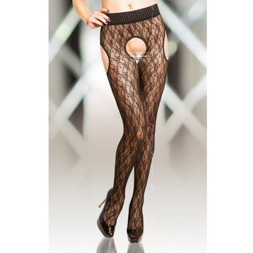 Softline collection 1 crotchless tights 5505 - black promo