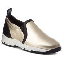 Sneakersy - w00555-0046-005 mustang złoty sat./skóra czarna marki Baldowski