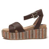 Wrangler sandały damskie Tempura Straw Cross 40 brązowy (8056093259483)