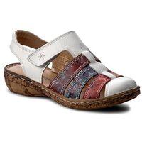 Sandały - 720109 weiss/bunt 3, Comfortabel, 36-40