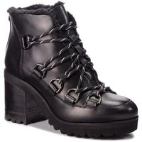 Botki STEVE MADDEN - Zana Biker Boot SM11000236-03001-017 Black Leather, w 6 rozmiarach