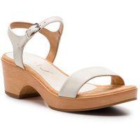 Sandały UNISA - Irita 19 Na Ivory Napasilk S, kolor biały