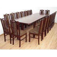 Drewmix Stół wenus viii (100x200-300) + 18 krzeseł boss ix