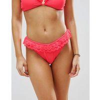 Vero Moda Scallop Thong Bikini Bottom - Orange, w 4 rozmiarach