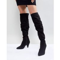 over the knee ruched boot - black marki Miss selfridge