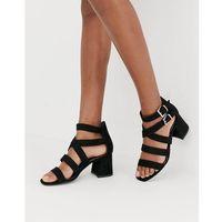 multi strap sandal in black - black, New look