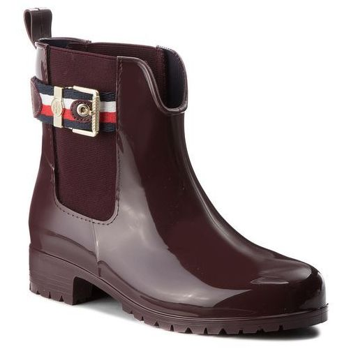 Tommy hilfiger Kalosze - corporate belt rain fw0fw03329 decadent chocolate 296