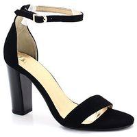 TYMOTEO 2704 CZARNE - Sandały na słupku - Czarny, kolor czarny