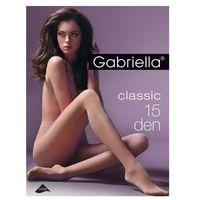 Gabriella rajstopy classic 15 den biały