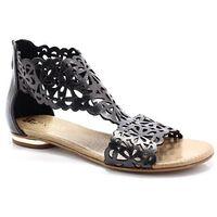 TYMOTEO 2699 PLATYNA - Płaskie sandały ażurowe - Szary, kolor szary