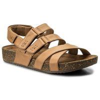 Sandały - rosilla keene 261325464 light tan leather marki Clarks