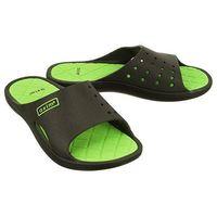 AXIM 7KL1537 czarny/zielony, klapki damskie basenowe - Czarny