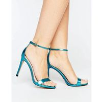 stecy metallic blue barely there heeled sandals - blue, Steve madden