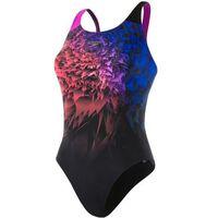 Speedo strój kąpielowy Placement Digital Powerback Black/Pink 34, kolor różowy
