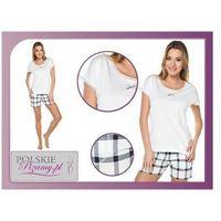 Piżama damska ARTE: śmietankowa biel, kolor biały