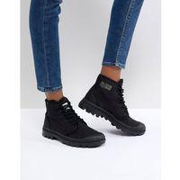 Palladium Pampa Hi Originale TC Black Canvas Flat Ankle Boots - Black, ankle