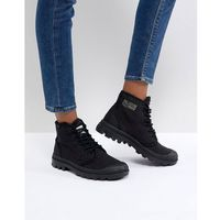 Palladium Pampa Hi Originale TC Black Canvas Flat Ankle Boots - Black, kolor czarny