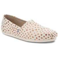 Toms Półbuty - classic 10011646 rose gold/natural canvas dots