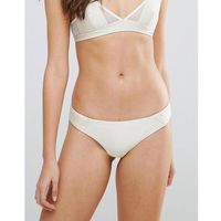 Minkpink Satin Quilted Cheeky Bikini Bottom - Cream, w 2 rozmiarach