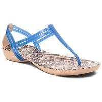 Sandały - isabella graphic t-strap 204859 blue jean/animal marki Crocs
