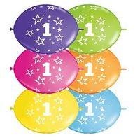 Girlanda balonowa z nadrukiem cyfra 1 - 300 cm - 1 kpl - 10 szt. balonów