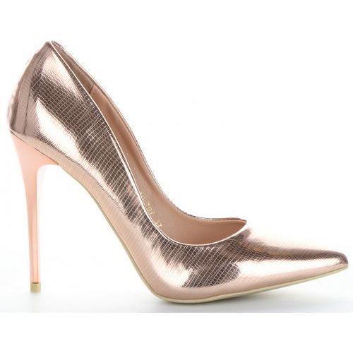 Eleganckie i modne szpilki firmy bellucci szampan (kolory) marki Belluci